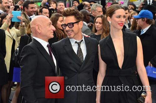 Sir Ben Kingsley, Robert Downey Jr and Rebecca Hall 5