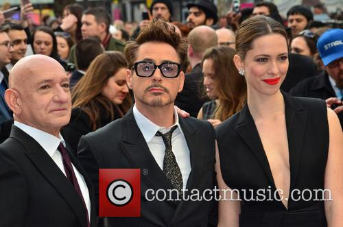 Sir Ben Kingsley, Robert Downey Jr and Rebecca Hall 7