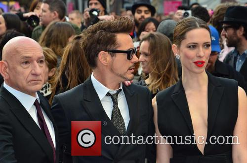 Sir Ben Kingsley, Robert Downey Jr, Rebecca Hall, Odeon Leicester Square