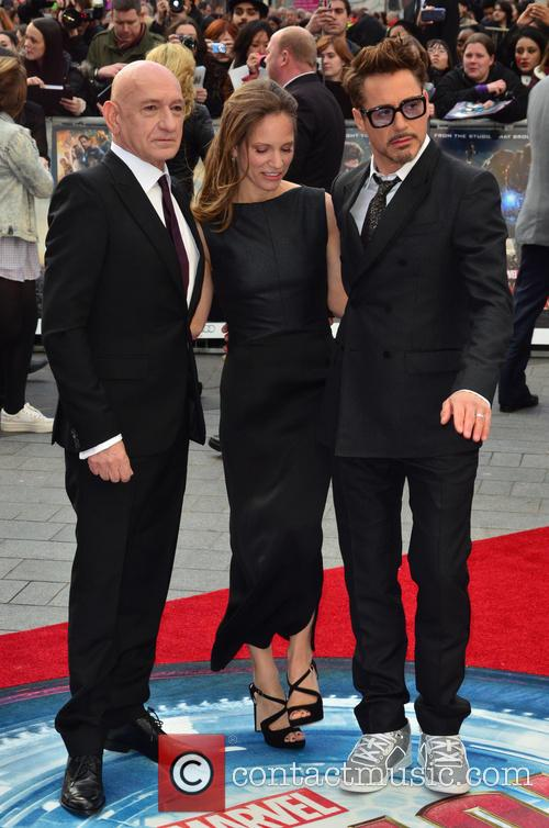 Sir Ben Kingsley, Susan Downey, Robert Downey Jr, Odeon Leicester Square