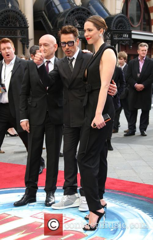 Sir, Ben Kingsley, Robert Downey Jr and Rebecca Hall 1