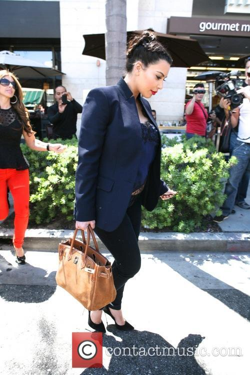 Kim Kardashian has lunch at La Scala