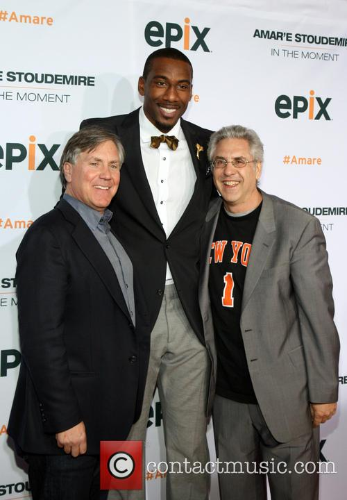 Mark Greenberg, Amare Stoudemire and Albie Hect 7