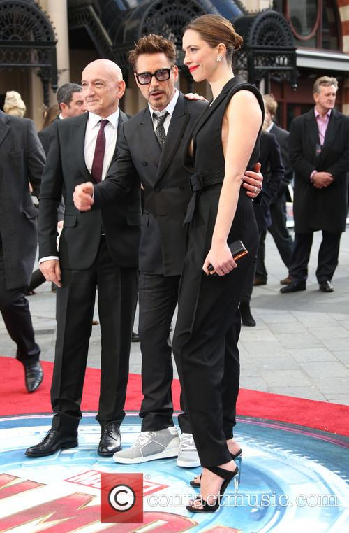Sir Ben Kingsley, Robert Downey Jr and Rebecca Hall 6