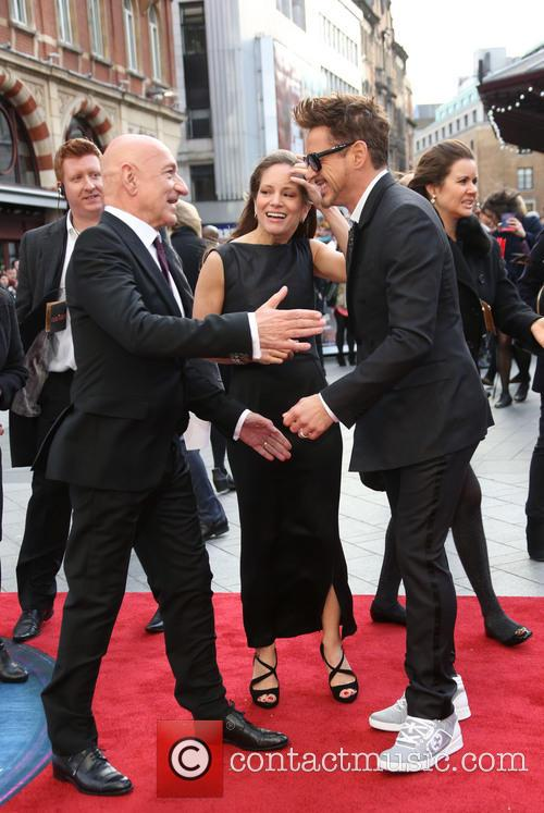 Sir Ben Kingsley, Robert Downey Jr and Susan Downey 4