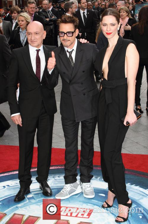 Sir Ben Kingsley, Robert Downey Jr and Rebecca Hall 11