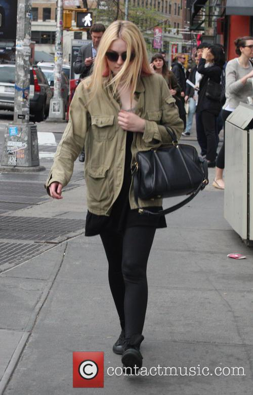 Actress Dakota Fanning seen out and about