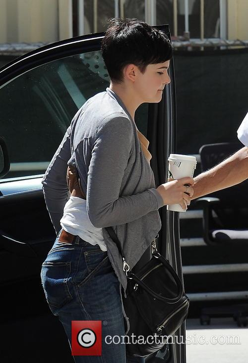 Ginnifer Goodwin at the Lancer Dermatology medical office