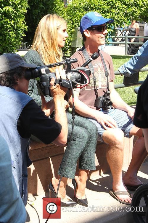 Heidi Klum filming