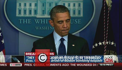 U.S. President Barack Obama briefing