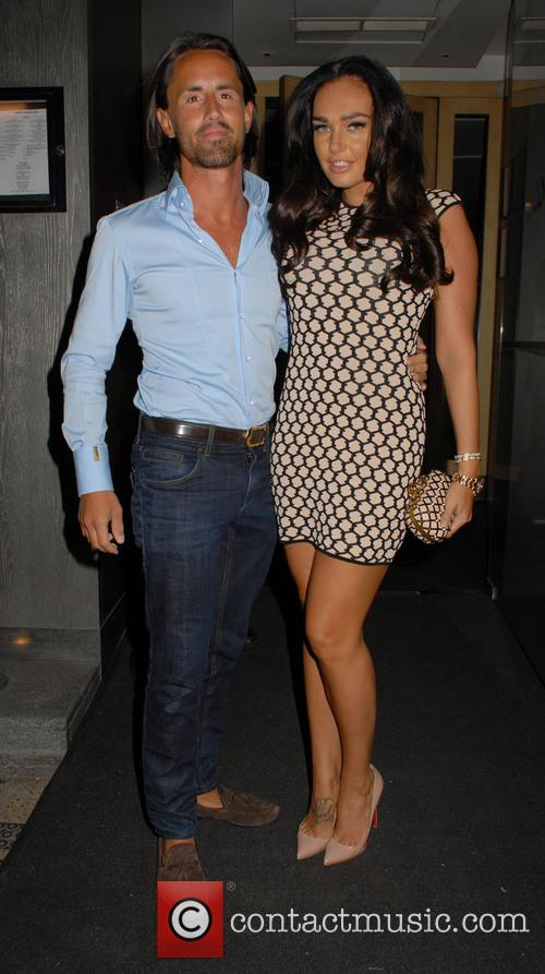 Tamara Ecclestone and Jay Rutland outside Nobu Berkley...