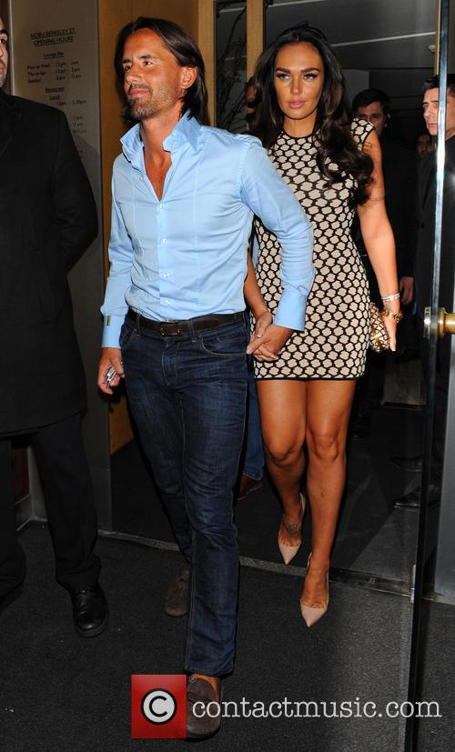 Tamara Ecclestone and Jay Rutland leaving Nobu Berkeley