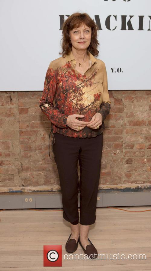 Susan Sarandon, No Fracking Installation