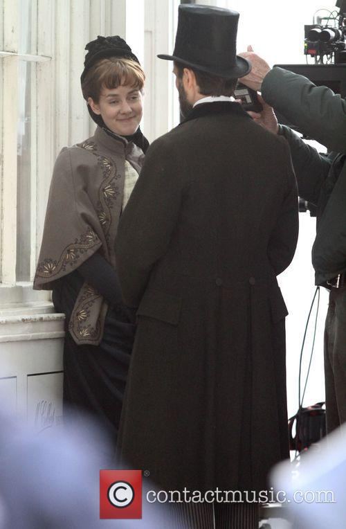 Filming scenes for Victorian period drama 'Angelica' at...