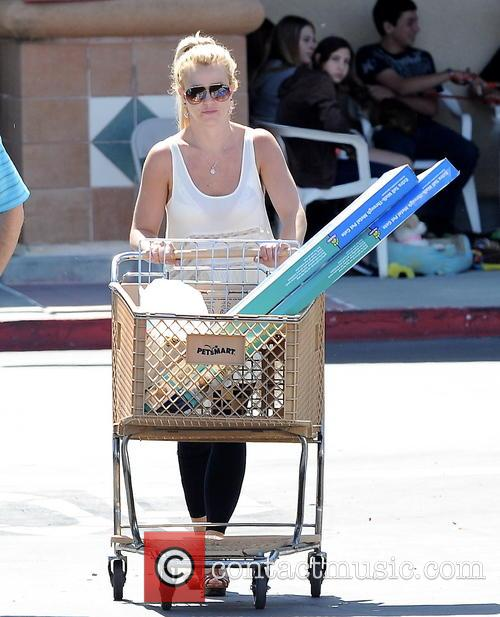 Singer Britney Spears spotted picking up dog supplies...