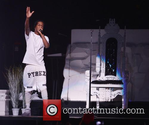A Rocky performs live as support for Rihanna...