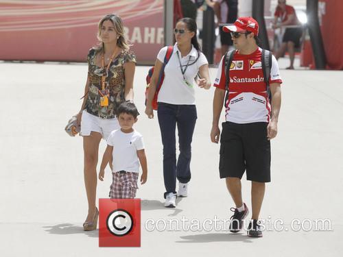 Felipe Massa, Rafaela Massa and Felipinho Massa 2