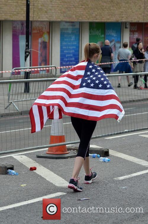Runner Wearing An American Flag 2