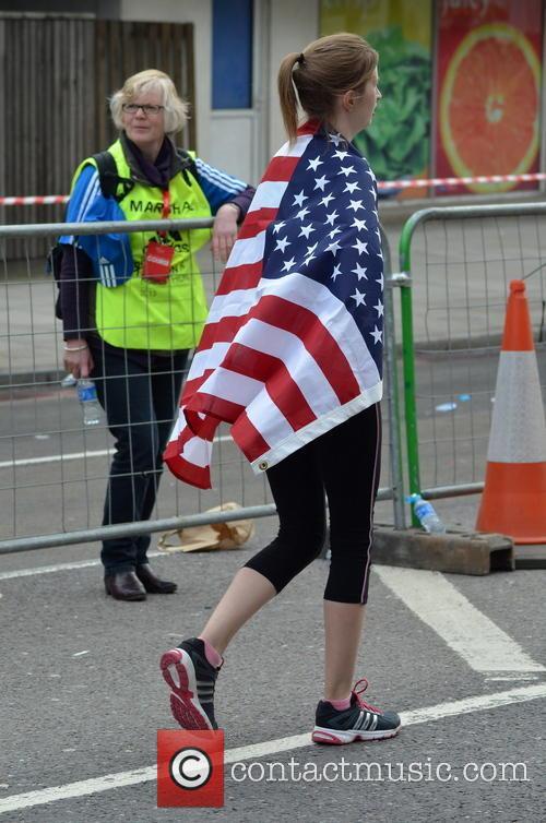 Runner Wearing An American Flag 3