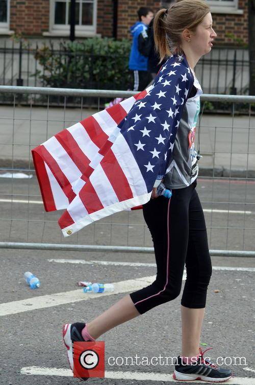 Runner Wearing An American Flag 1
