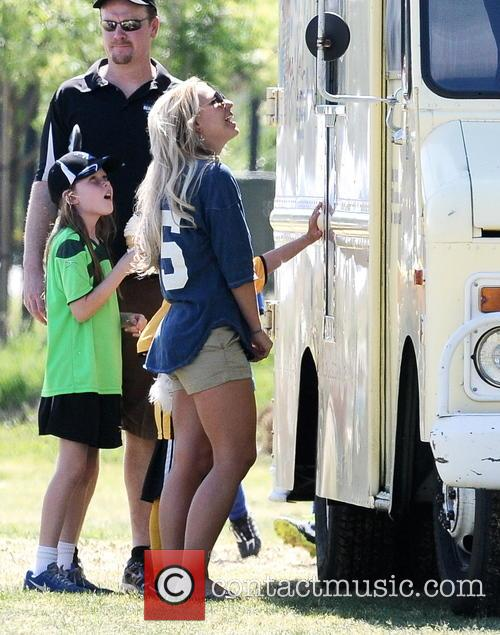Britney Spears at her sons soccer match