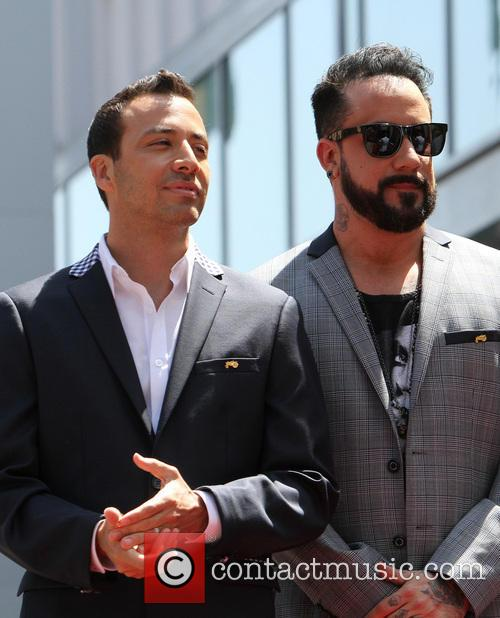 howie dorough aj mclean the backstreet boys celebrate 3622527
