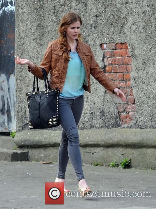 Celebrities on the set of TV show 'Love/Hate'