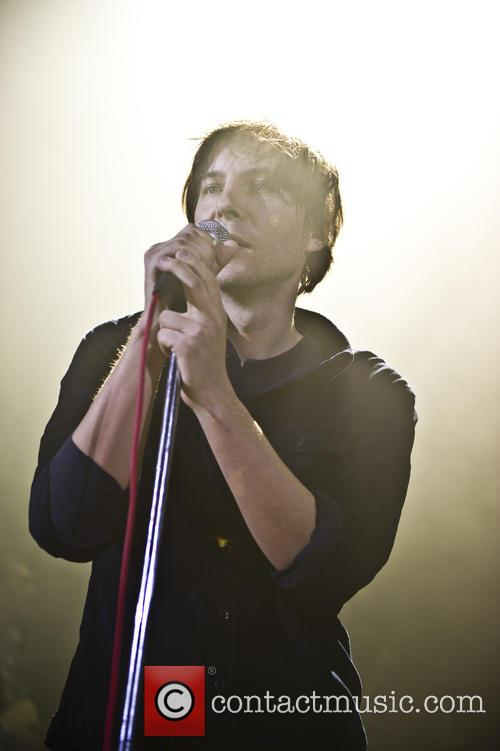 Phoenix vocalist Thomas Mars performing in London