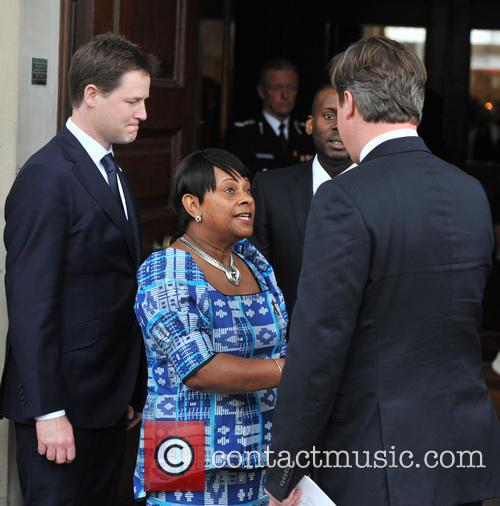 Nick Clegg, Doreen Lawrence and David Cameron 2