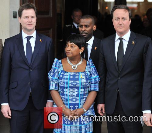 Nick Clegg, Doreen Lawrence, Stuart Lawrence and David Cameron 2