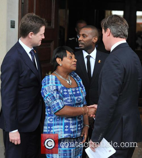 Nick Clegg, Doreen Lawrence, Stuart Lawrence and David Cameron 5