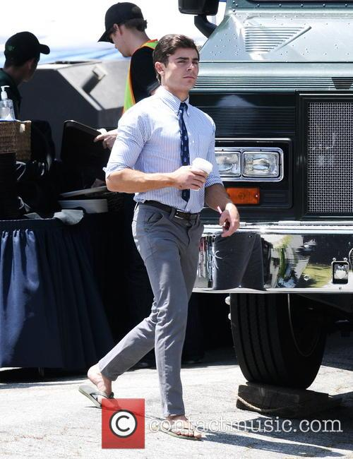 Zac Efron gets back to work with a...