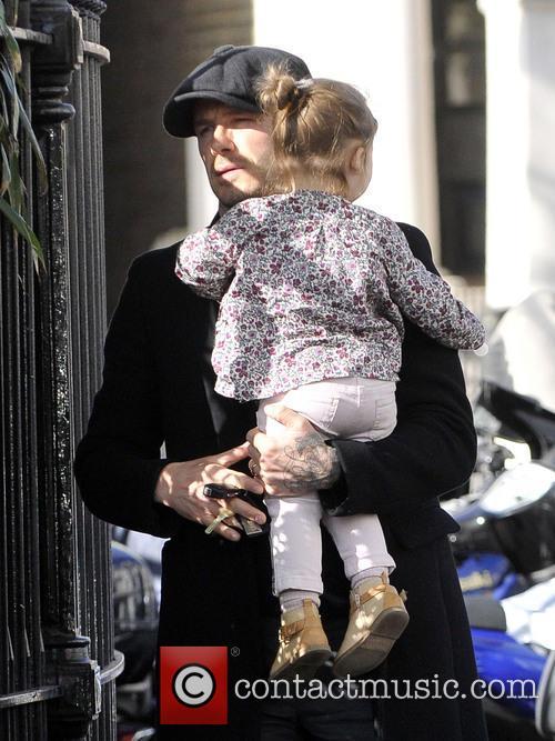 David Beckham and Harper Beckham 12