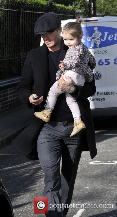 David Beckham and Harper Beckham 13