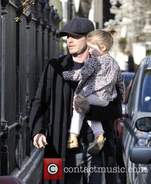 David Beckham and Harper Beckham 14