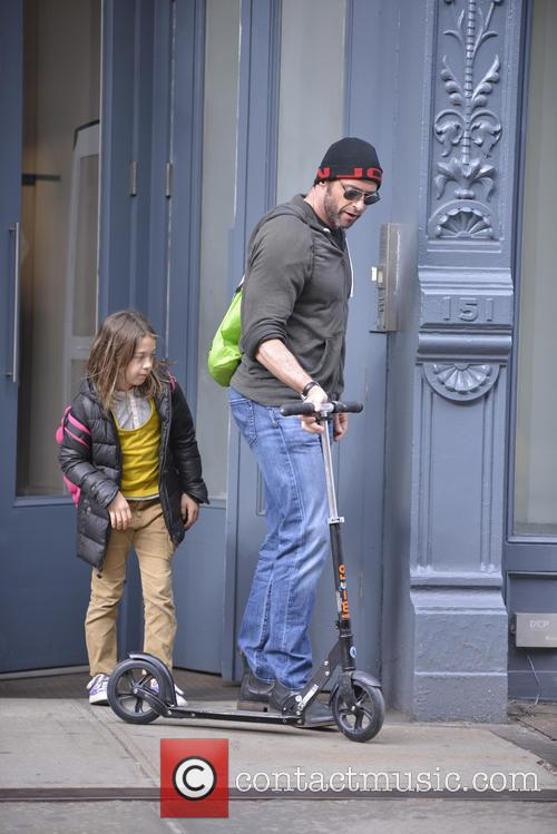 Hugh Jackman and his daughter Ava out and...