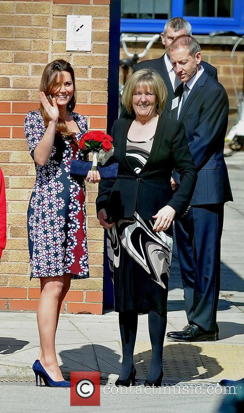 Catherine, Duchess of Cambridge visits Willows Primary School