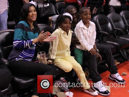 Celebrities at the Clippers Grizzlies NBA playoff game