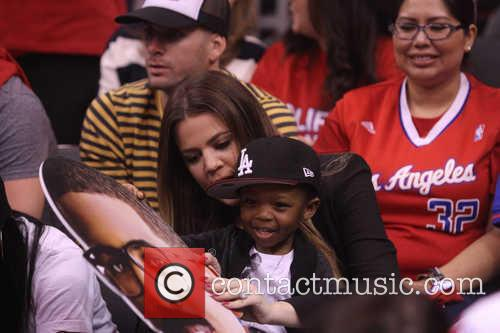 khloe kardashian celebrities at the clippers grizzlies 3622325
