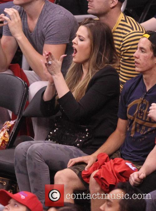khloe kardashian celebrities at the clippers grizzlies 3622331