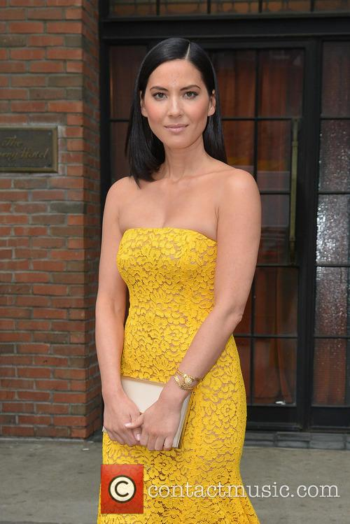 Olivia Munn seen in a yellow gown