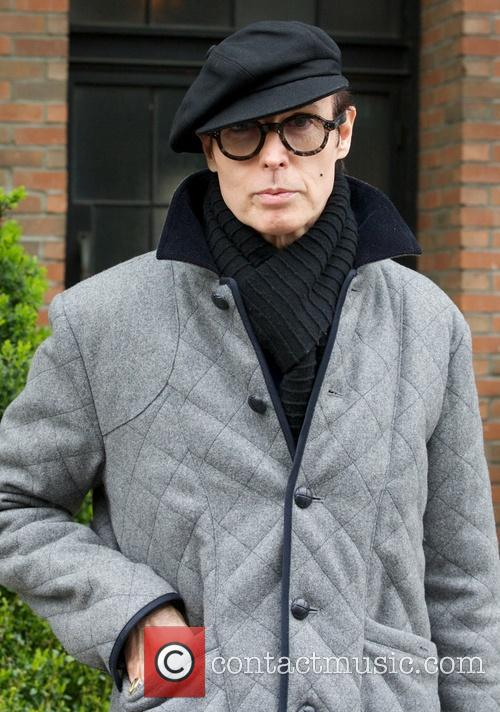 Fashion editor Patrick McDonald is seen out and...