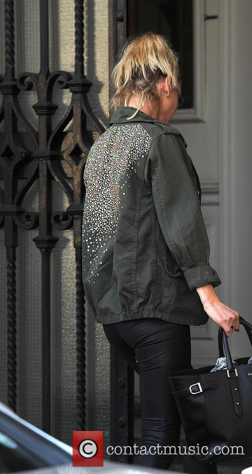 Sarah Harding arrives at Sea ford House