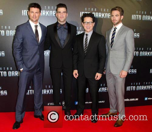 J.j Abrams, Chris Pine, Zachary Quinto and Karl Urban