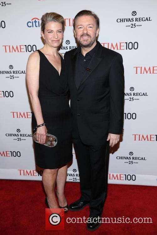 Jane Fallon and Ricky Gervais 3