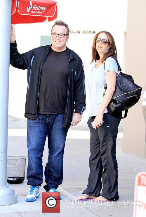Tom Arnold and Ashley Groussman spotted on Bedford...