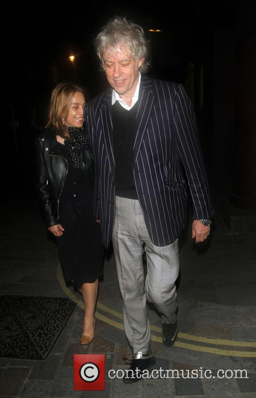 Bob Geldof and Jeanne Marine out and about...