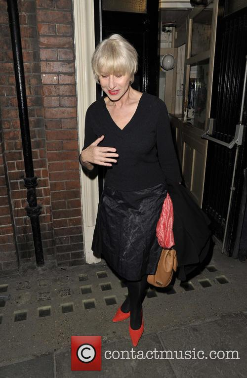 Dame Helen Mirren leaving the Gielgud Theatre