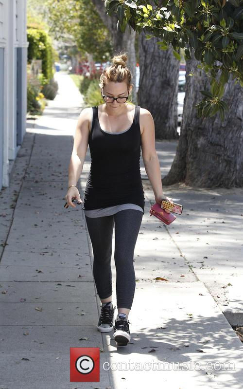 Hilary Duff heads to her pilates class