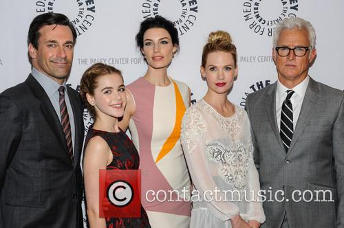 Jon Hamm, Kiernan Shipka, Jessica Pare, January Jones and John Slattery 2